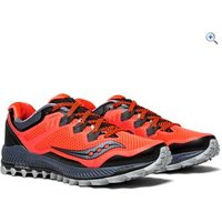 Saucony Peregrine 8 Womens Trail Running Shoe - Size: 5 - Colour: VIZI RED GY BLK