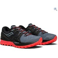 Saucony Womens Xodus ISO 2 Running Shoes - Size: 6 - Colour: GREY BLACK RED