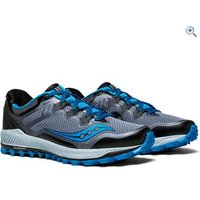 Saucony Peregrine 8 Mens Trail Running Shoe - Size: 9 - Colour: BLACK GRY BLUE