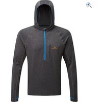 Ronhill Mens Momentum Victory Hoodie - Size: S - Colour: CHARCOAL ELEC