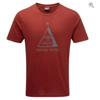 Montane Further Faster Tee - Size: XL - Colour: REDWOOD SHADOW