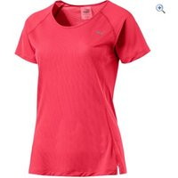 Puma Core-Run short-sleeved womens tee - Size: XS - Colour: PARADISE PINK