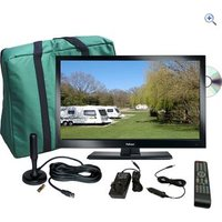 Falcon TV Plus Pack - 22 LED TV, 12V & Mains (with magnetic mount Freeview antenna)