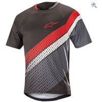 Alpinestars Mens Predator Short Sleeve Jersey - Size: L - Colour: BLACK GREY RED