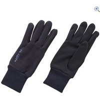 Harry Hall Fleece Domy Suede Riding Gloves - Size: L - Colour: Navy