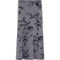 Bonmarche Grey Flock Skirt - Grey - size 16