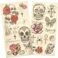 Claire's Edgy Skull And Rose Temporary Tattoos - Tattoos Gifts