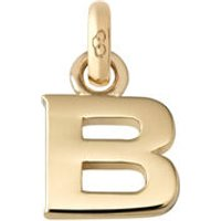 18kt Yellow Gold Letter B Charm
