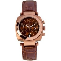 Brompton Women's Brown Stainless Steel & Brown Dial Leather Chronograph Watch