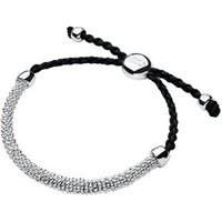 Effervescence XS Sterling Silver & Grey Cord Bracelet