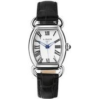 Driver Elipse Women's Stainless Steel Black Leather Band Watch by Links of London