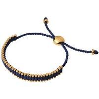 18kt Yellow Gold Vermeil & Navy Mini Friendship Bracelet by Links of London