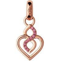 18k Rose Gold & Rhodolite Garnet Infinite Love Charm