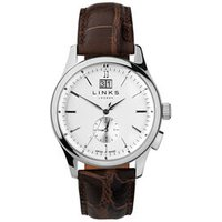 Regent Men's Stainless Steel & Brown Leather Band Watch - Band Gifts