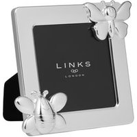Little Friends Silver Plated Bee & Butterfly Frame - Bee Gifts