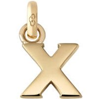 18kt Yellow Gold Letter X Charm