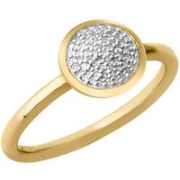 Diamond Essentials 18kt Yellow Gold Vermeil & Pave Round Ring by Links of London