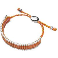 Orange, Coral And Pink Friendship Bracelet in Silver - Orange Gifts