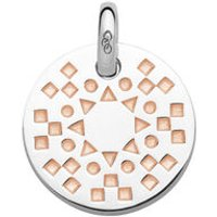 Ascot Narrative Sterling Silver & 18kt Rose Gold Vermeil Small Pendant