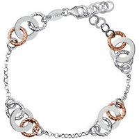 Aurora Bi-Metal Multi Link Bracelet in Yellow/Rose Gold/Gold