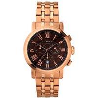 Richmond Men's Rose Gold-Plated Black Dial Chronograph Bracelet Watch - Bracelet Gifts