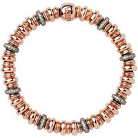 Sweetheart 18kt Rose Gold Vermeil, White Topaz & Black Rhodium Bracelet