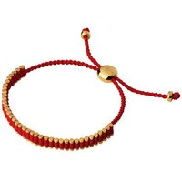 18kt Yellow Gold Vermeil & Ruby Red Mini Friendship Bracelet