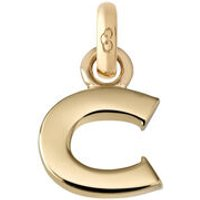 18kt Yellow Gold Letter C Charm