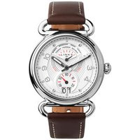 Driver Dashboard Stainless Steel & Brown Leather Band Watch by Links of London