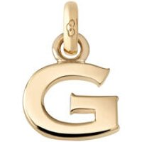 18kt Yellow Gold Letter G Charm