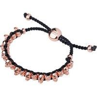 18kt Rose Gold Vermeil Skull Friendship Bracelet