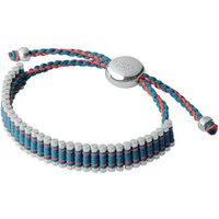 Turquoise & Neon Orange Friendship Bracelet in Silver - Turquoise Gifts