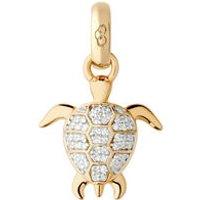 18kt Yellow Gold & Diamond Turtle Charm