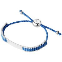 Sterling Silver & Blue Cord Baby Friendship ID Bracelet