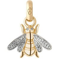 18kt Yellow Gold & Diamond Bee Charm - Bee Gifts