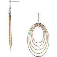 Aurora Mixed Metal Loop Chandelier Earrings in Black/Rose Gold/Gold by Links of London