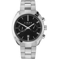 Bloomsbury Men's Stainless Steel & Black Dial Bracelet Watch - Bracelet Gifts