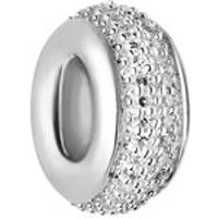 Sweetie Sterling Silver & White Diamond Pave Bead