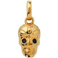 18kt Yellow Gold Vermeil & Black Spinel Skull Charm