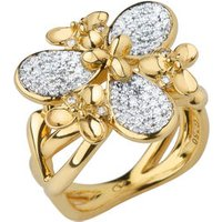 Night Time Garden 18kt Yellow Gold & Diamond Cocktail Ring by Links of London