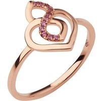 18k Rose Gold & Rhodolite Garnet Infinite Love Ring