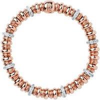 Sweetheart White Topaz & 18kt Rose Gold Vermeil Bracelet by Links of London