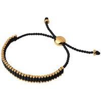 18kt Yellow Gold Vermeil & Black Mini Friendship Bracelet by Links of London