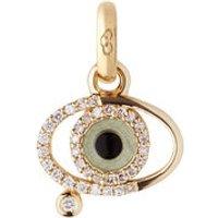 18kt Yellow Gold & Diamond Evil Eye Charm