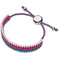 Turquoise And Pink Friendship Bracelet in Silver - Turquoise Gifts