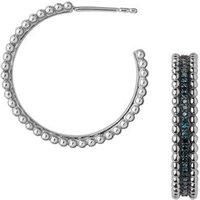 Effervescence Sterling Silver & Blue Diamond Hoop Earrings