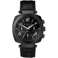 Brompton Black Stainless Steel Black Leather Band Chronograph Watch - Band Gifts