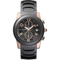 Phoebe Women's Black Ceramic and Rose Gold-Plated Watch by Links of London