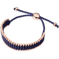 18kt Rose Gold Vermeil & Purple Cord Friendship Bracelet by Links of London
