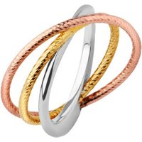 Aurora Mixed Metal Stack Ring in Rose Gold/Gold - Ring Gifts